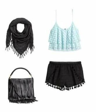 shorts noir dentelle