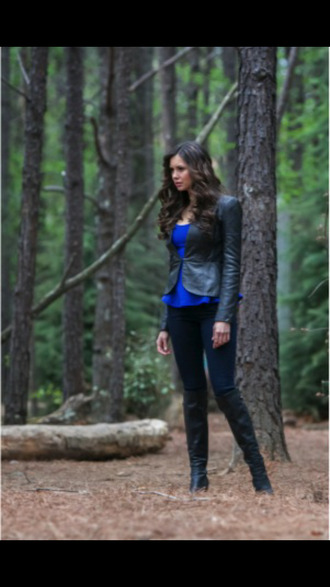 wow shitrt blouse the vampire diaries katherine pierce one direction jacket jeans shoes