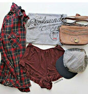 cap,hipster,hippie,snapback,hat,blouse,t-shirt,back to school,flannel shirt,jacket,shirt,shorts