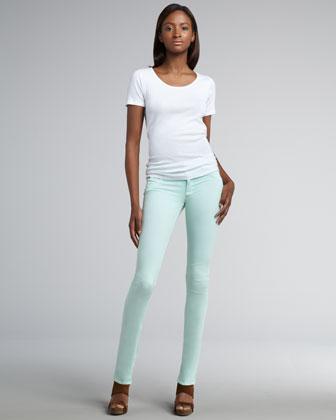 Collin Mint Skinny Jeans - Bergdorf Goodman
