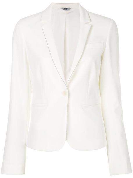 LIU JO blazer women spandex white jacket