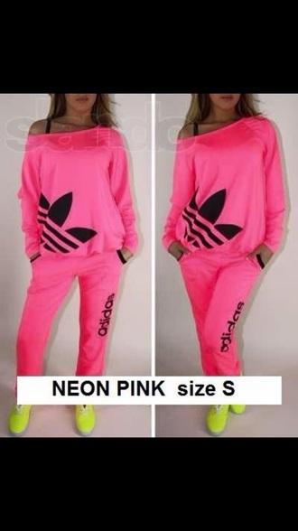jumpsuit adidas neon off shoulderr