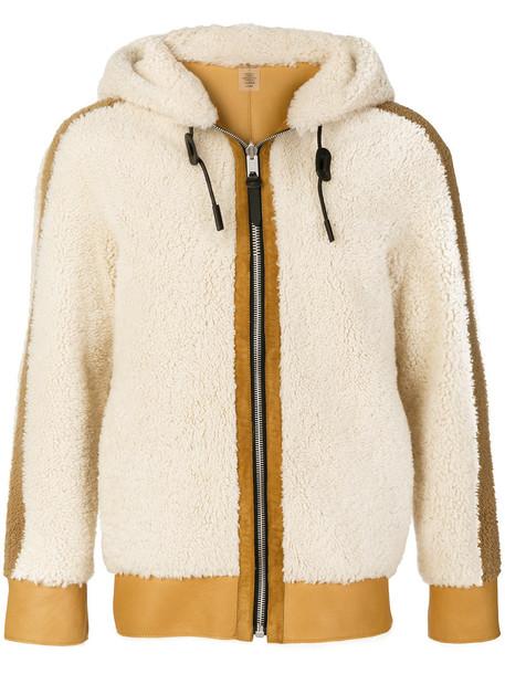 coach jacket shearling jacket women leather white