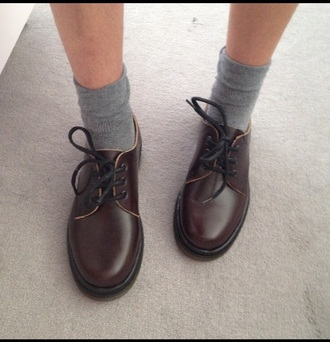 shoes drmartens dr martens 3 eye brown vintage tumblr vintage shoes