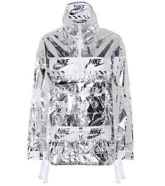 jacket metallic silver