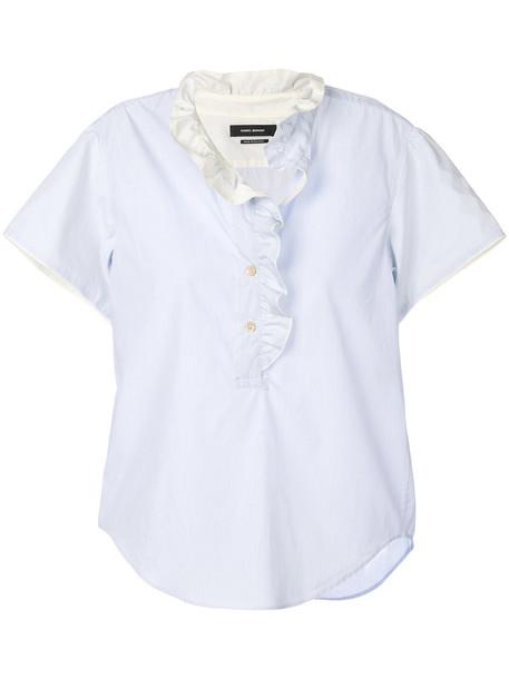 Isabel Marant shirt ruffle women cotton blue top