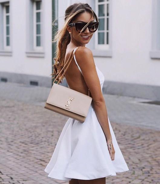 dress white dress little white dress backless dress