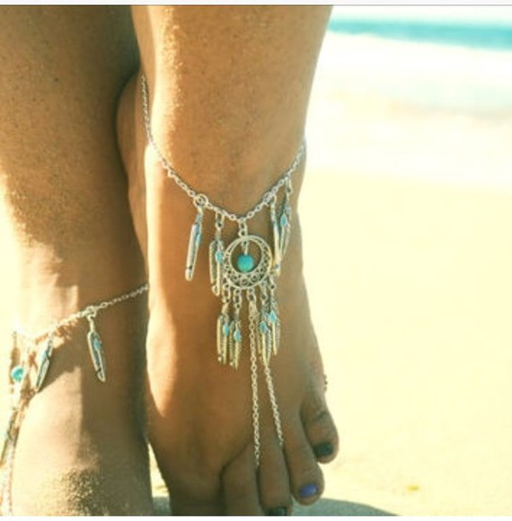jewels sterling silver turquoise jewelry turquoise dream catcher jewelry foot jewelry