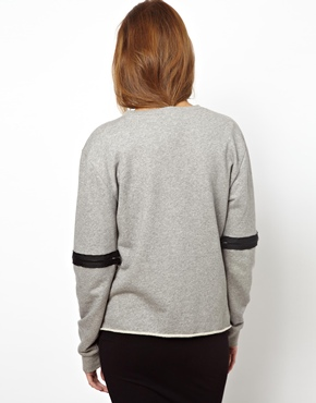 Back By Ann Sofie Back | BACK by Ann-Sofie Back Zip Sleeve Sweatshirt at ASOS
