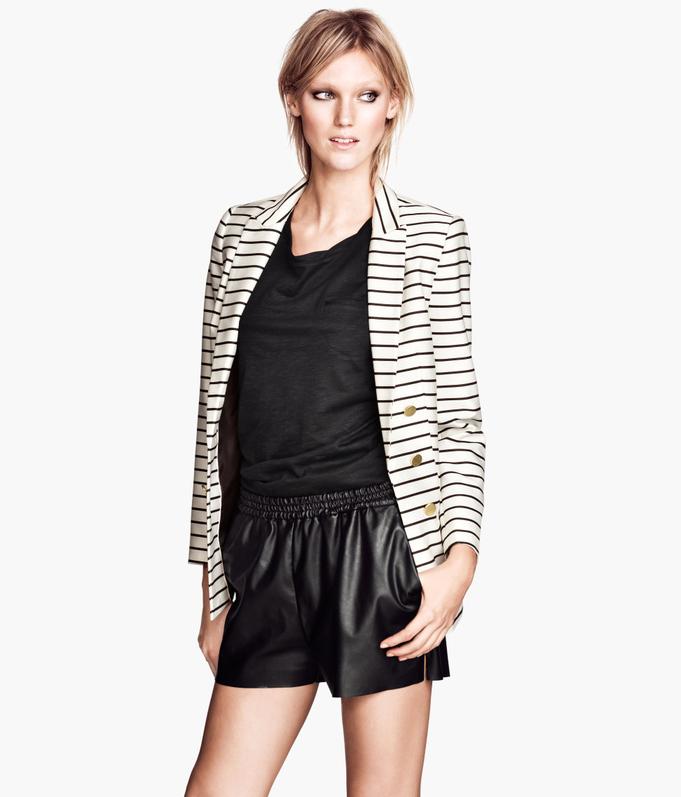 H&M Imitation Leather Shorts $17.95