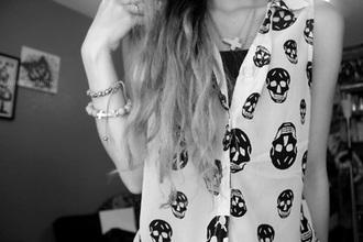 blouse skull