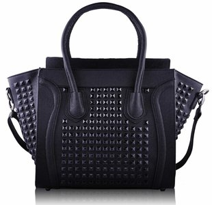Fashion Bag  Black & Studs-Heels Vision