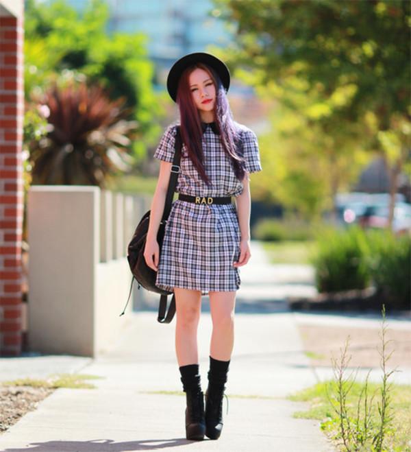 chloe ting dress hat bag