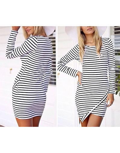 Assymetrical striped dress geometric pop celebrity blogger cherry aust