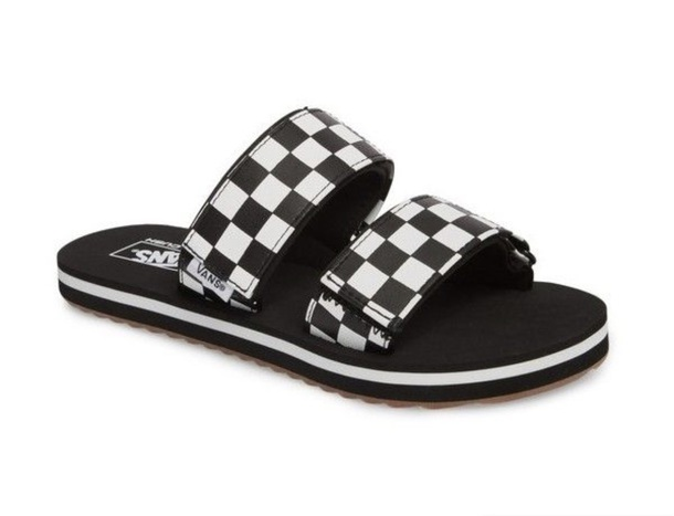 878356754f1e5 shoes, vans, strappy, slide shoes, checkered, sandals - Wheretoget
