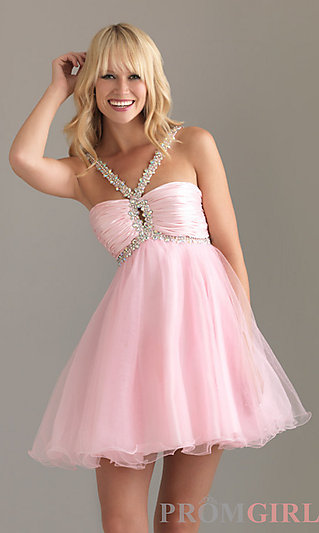 Night Moves Homecoming Dresses, Halter Party Dresses- PromGirl