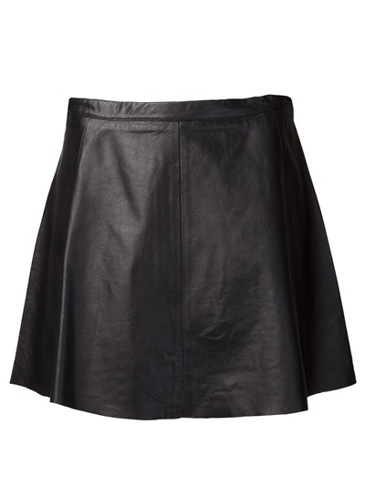 Love leather lamb leather skirt