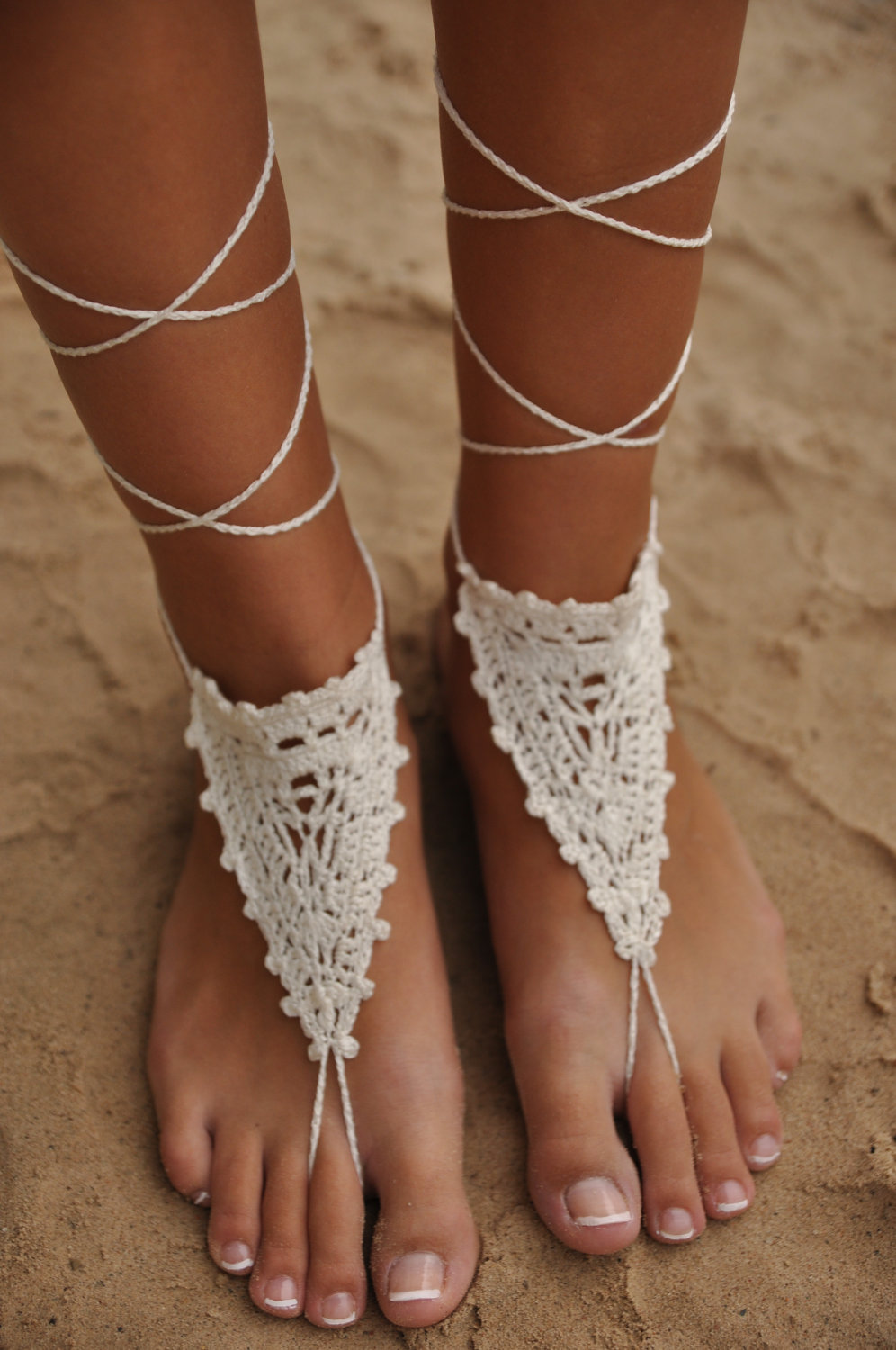 sexy barefoot beach from hippy sandals crochet sandal anklets handmade rope omeng anklet yoga in wedding wear boho item jewelry