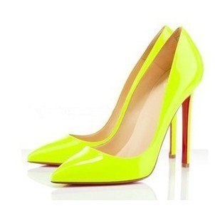 2013 hot sale Fashion star style candy neon yellow color pumps sexy party high heels shoes for women pointed toe brand size 40 9-inPumps from Shoes on Aliexpress.com