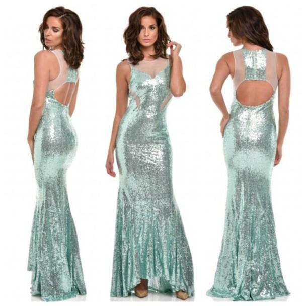 dress, maxi dress, mint, mint dress, sequins, sequin dress, prom ...