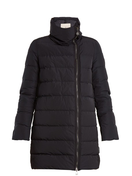 moncler coat quilted navy