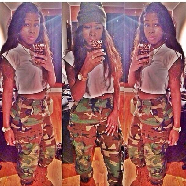 pants high waisted camouflage camo pants high waisted pants