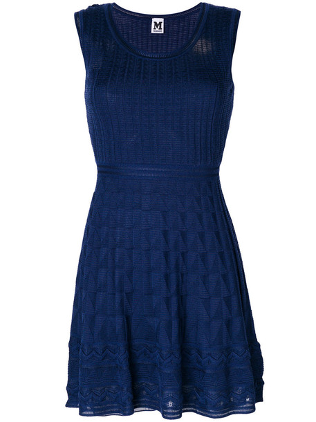 M Missoni dress mini dress knitted mini dress mini women blue wool