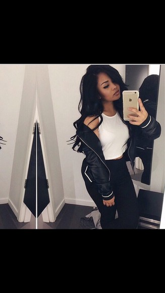 jacket women bomber jacket black and white
