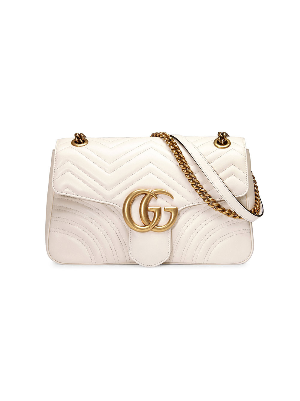 Deals on Gucci GG Marmont matelassé shoulder bag - Nude & Neutrals