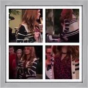 jacket,Jessie,black and white,debby ryan,sweater