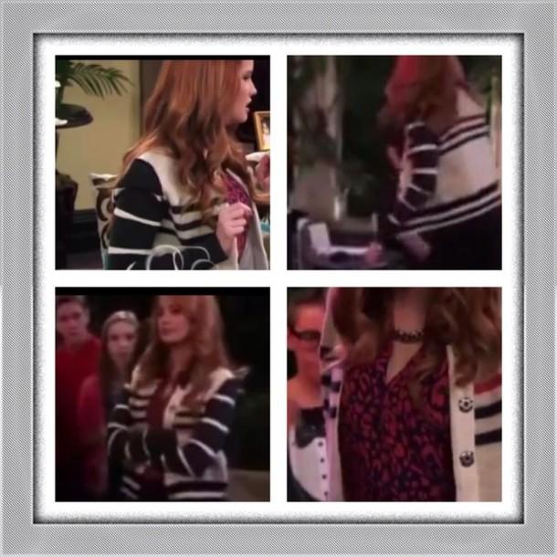 jacket Jessie black and white debby ryan sweater