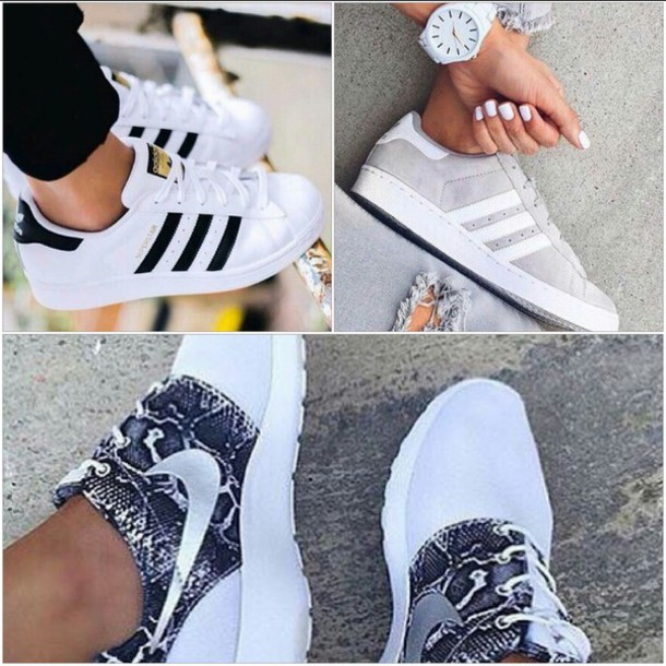 nikes and adidas shoes
