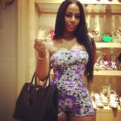dress,romper,purple romper,purple,floral,floral romper,cute,flowers,purple playsuit,fashion,ayisha diaz