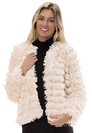 Love Collection Womens Ribbed Faux Fur Long Sleeve Jacket at Amazon Women's Coats Shop