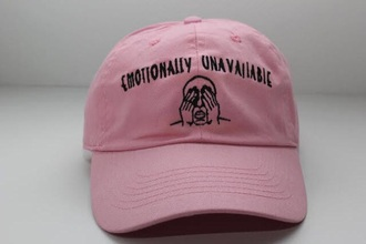 hat pink emotionally unavailable
