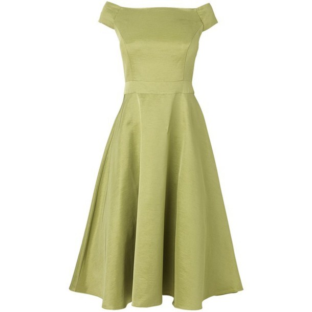 dress lime fit and flare dress