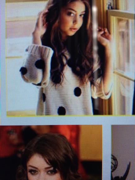knitwear sarah hyland black polka dot