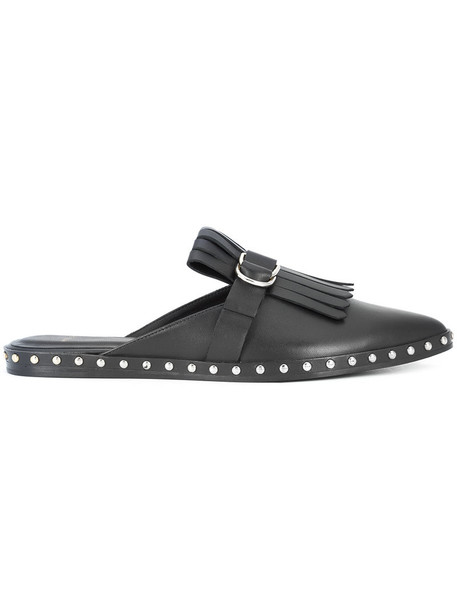 Anine Bing women mules leather black shoes
