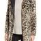 Dorothy perkins leopard print faux fur funnel coat | nordstrom
