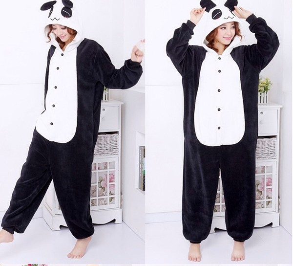 sweater kigurumi panda cute panda it's so adorable black and white kawaii