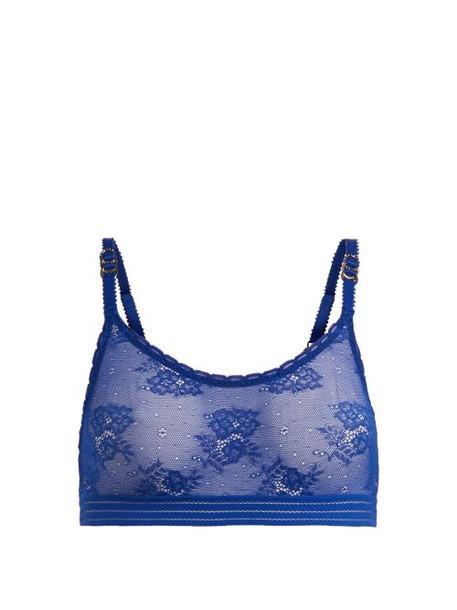 bralette lace bralette lace blue underwear