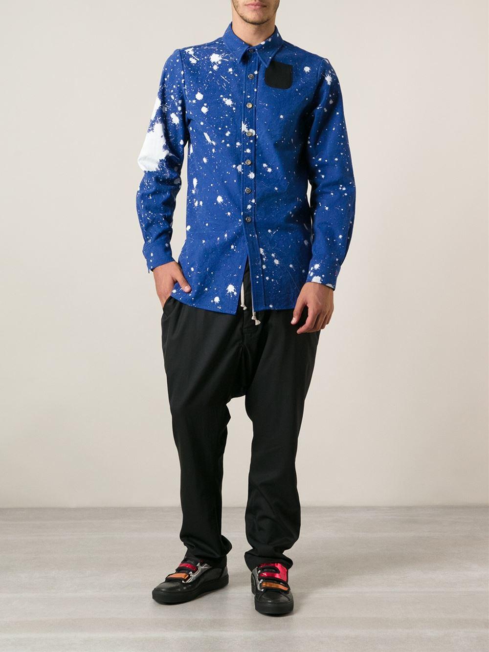 Raf simons printed slim fit shirt