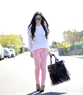 petit and sweet couture,sweater,pants,bag,shoes,sunglasses,jewels