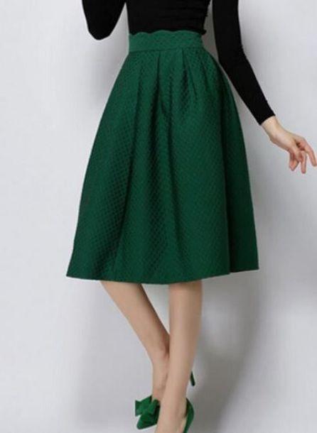 skirt green skirt green midi skirt pleated midi skirt