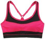 underwear,marie meili,sports bra,pink,black,racerback,padded cups