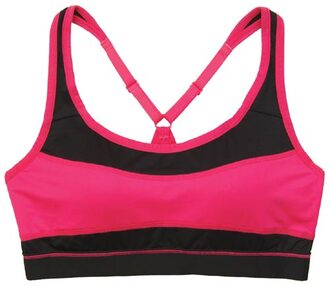 underwear marie meili sports bra pink black racerback padded cups