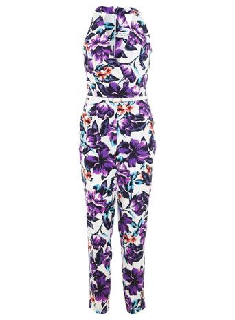 Purple Floral Jumpsuit - View All - Playsuits & Jumpsuits