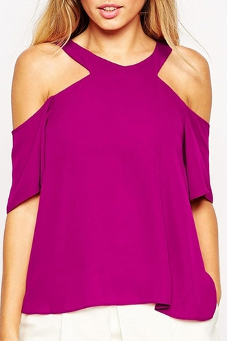 blouse cut-out shoulder top top tank top v neck purple stylish club dress trendy t-shirt solid color bag maxi dress beanie shorts rihanna blake lively kim kardashian emma watson taylor swift ariana grande rita ora ashley benson iggy azalea vanessa hudgens cara delevingne selena gomez miley cyrus beyonce dress beyonce