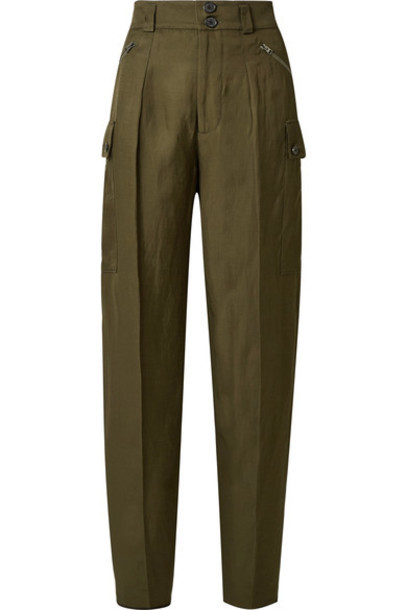 Tom Ford pants green army green