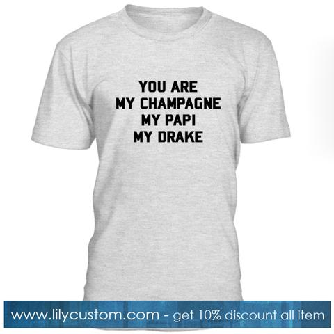 You Are My Chmapagne My Papi My Drake T Shirt